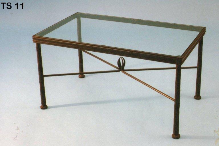 tavolinetto da salotto in ferro battuto
