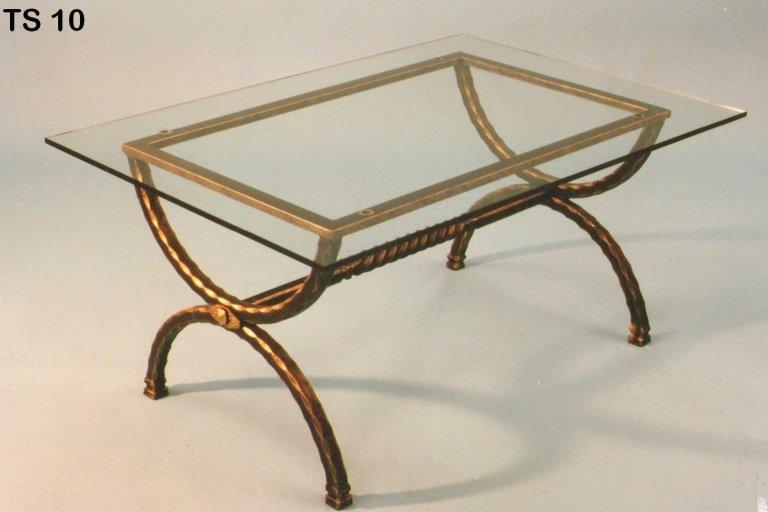 tavolinetto tondo in ferro battuto