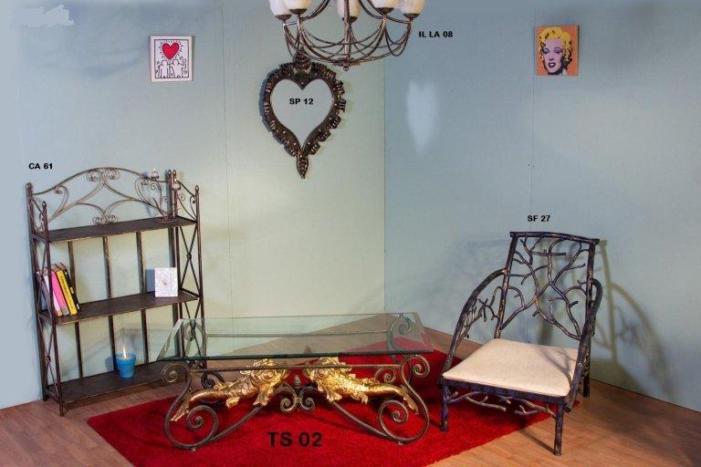 tavolo salotto ferro battuto