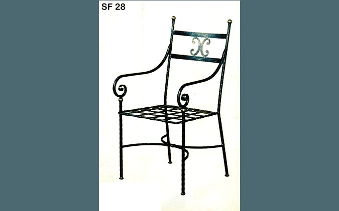 sedia ferro battuto