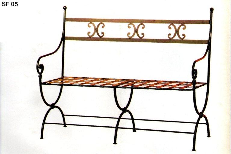 panchina ferro battuto