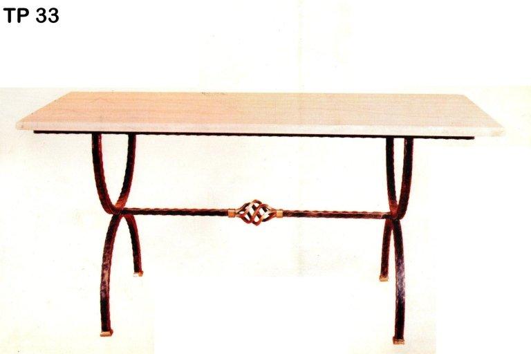 tavolo da pranzo in ferro battuto