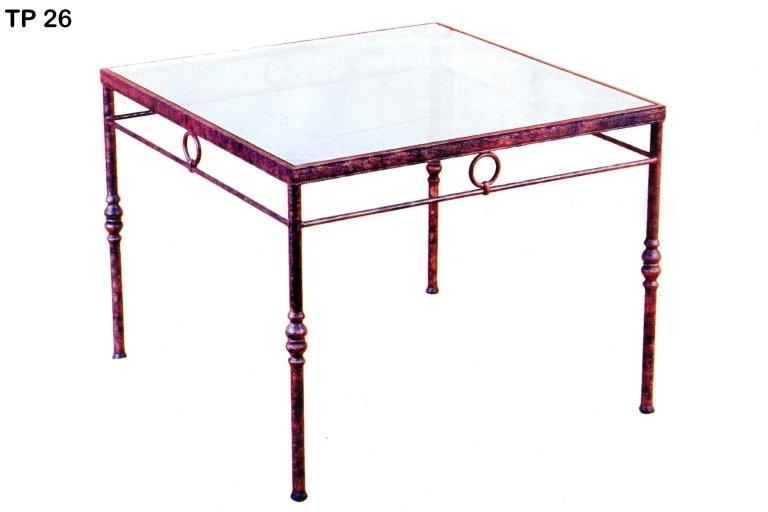 tavolo vetro ferro battuto