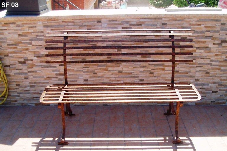 panchina da esterno ferro battuto