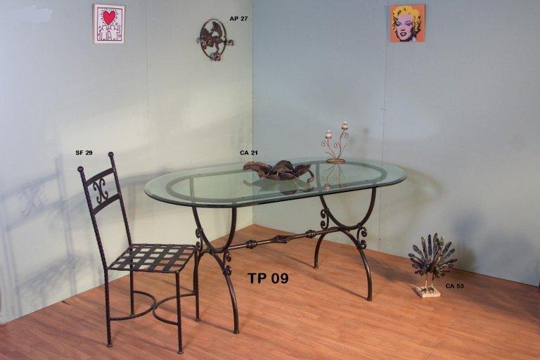 tavolo e sedia ferro battuto