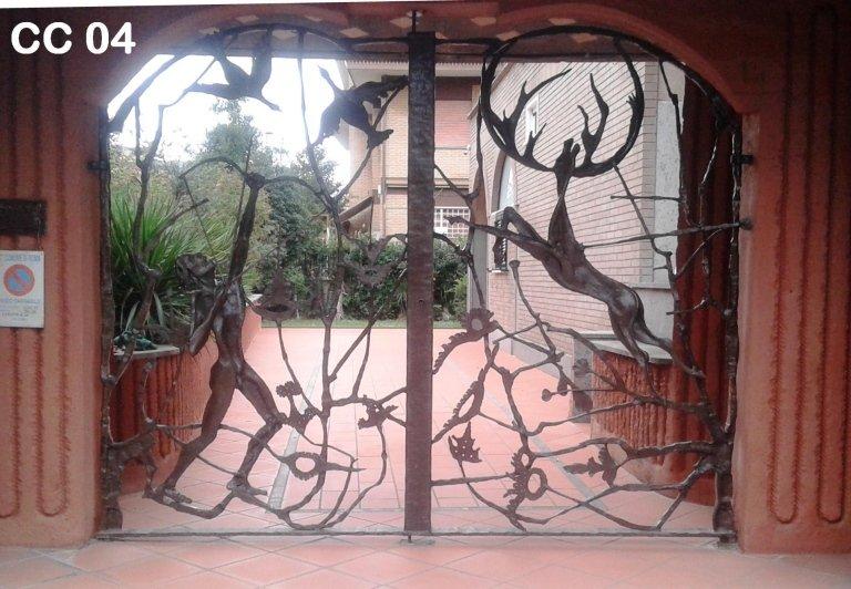 Cancello - Scultura in ferro battuto