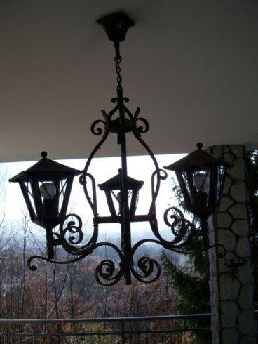 Lampada appesa in ferro