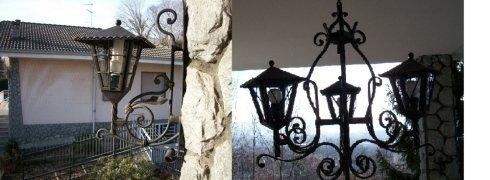 lampade da esterno in ferro battuto