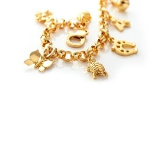 charms in oro, charms golden