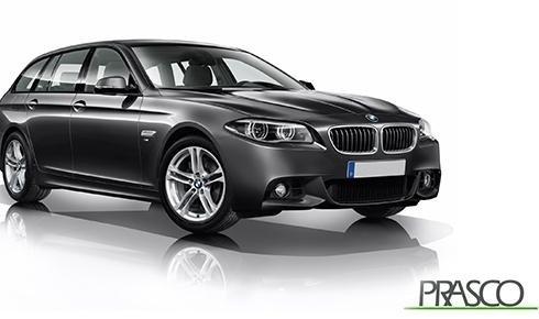 una BMW grigia scura