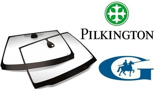 due lunotti della marca Pilkington