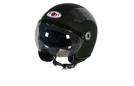 un casco nero da moto