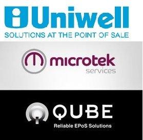 Uniwell, Microtek, Qube logo