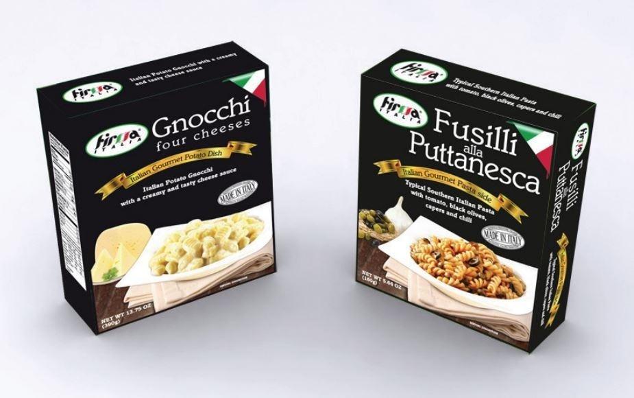 Grafica per scatole alimentari
