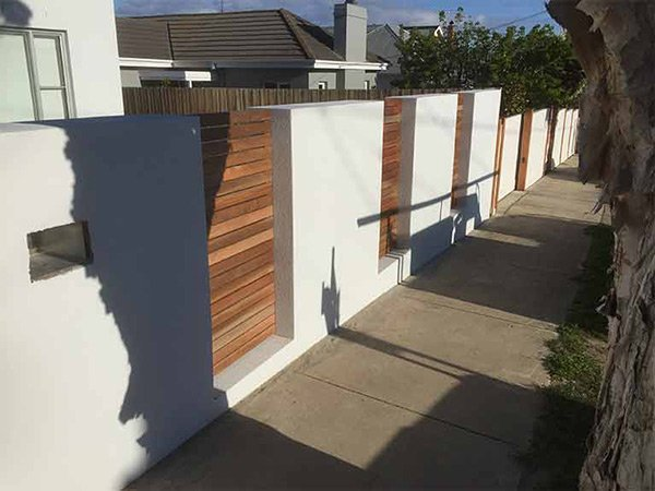 homestead gates and fencing compound wall with wooden fencing
