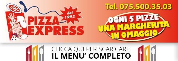 scarica il menu completo delle pizze