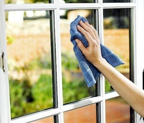 Lavaggio vetri tradizionale