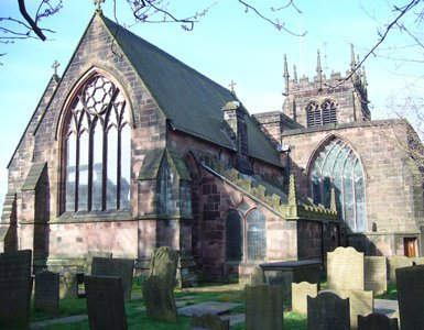 Slate repair and renewing lead for Church in Leek