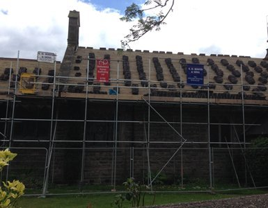 A church roof tiling and renovation project in Werrington
