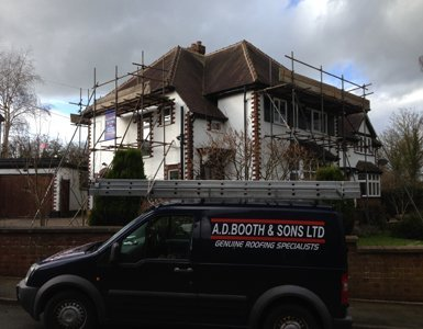 Ridge work and guttering work in Trentham