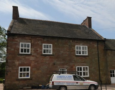 Lead flashings and renovations to a listed building in Crewe
