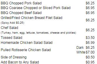 Garden Fresh Salads