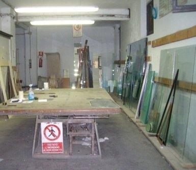 vetrerie, incisione su vetro, produzione specchi