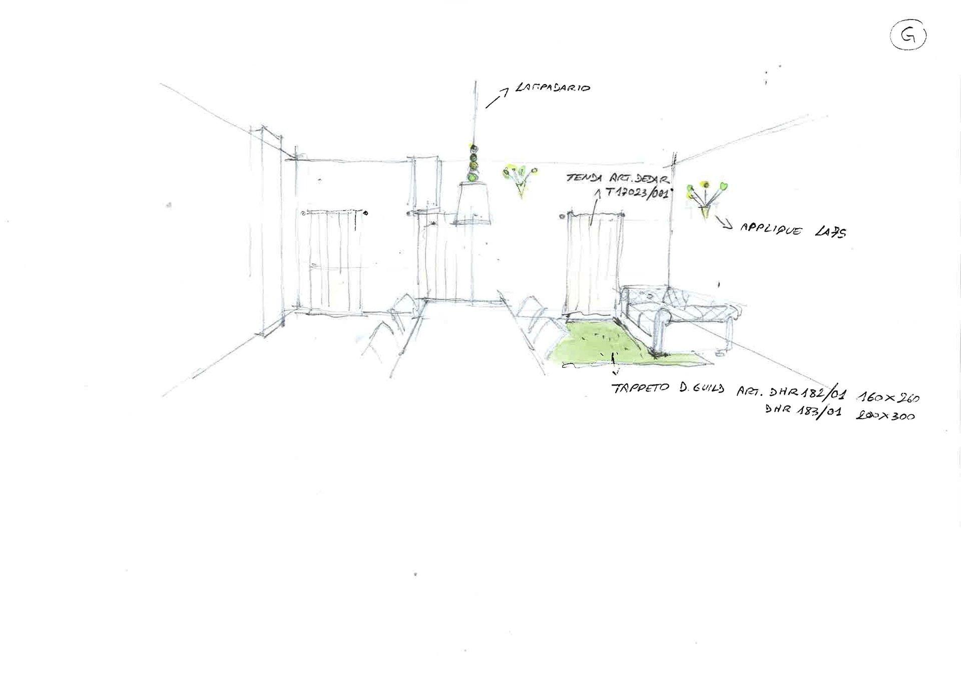 disegno restyling soggiorno