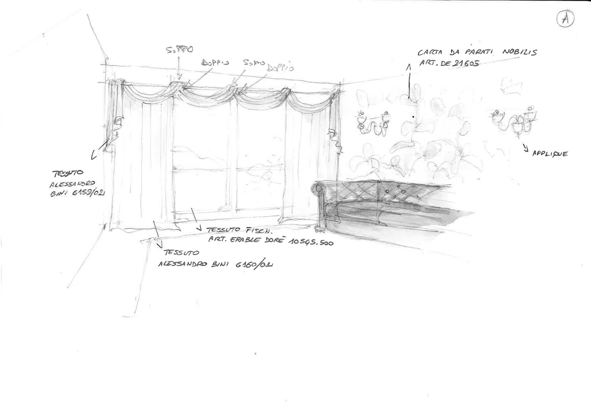 disegno zona living dopo restyling