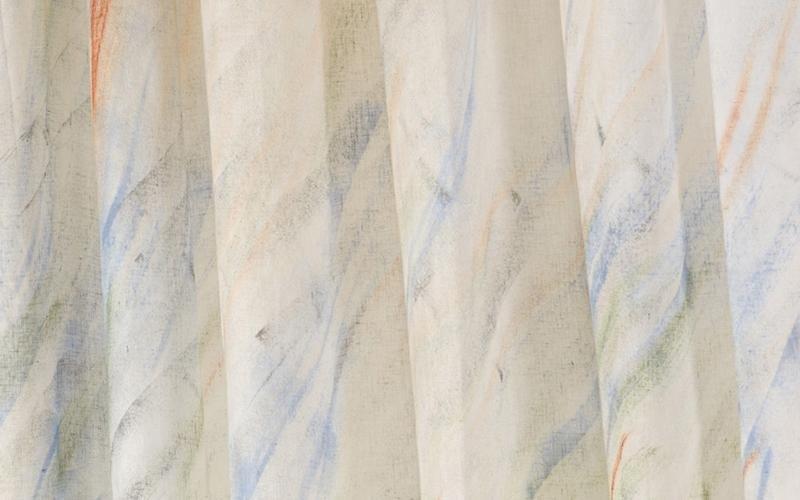 Dettaglio del disegno  en  tonalità blu