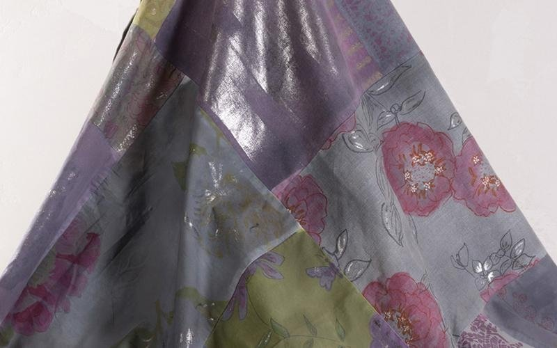 foulard d'arredo dipinto a mano
