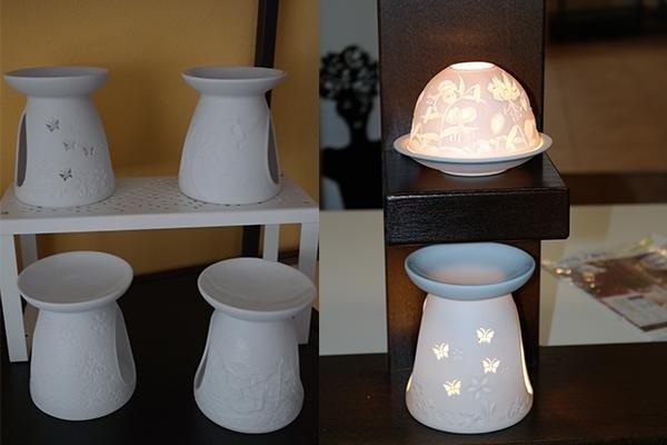 Diffusori in ceramica bianca