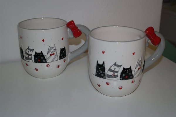mug con gatti