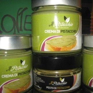 crema di pistacchio, pesto di pistacchio