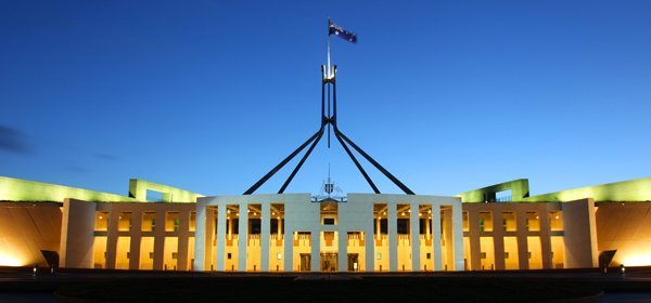 Australian Parliament adda flagpoles