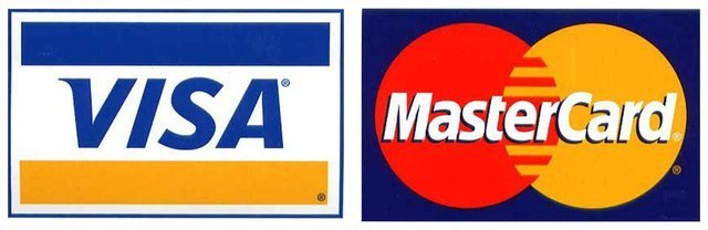 Logo of Visa & Logo of MasterCard
