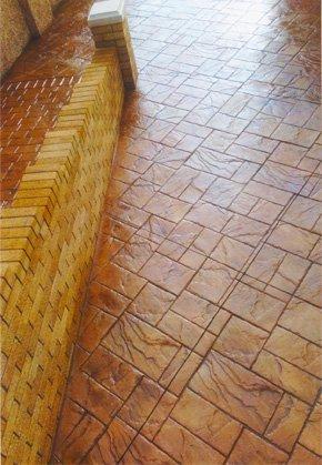 brown lawn tiling
