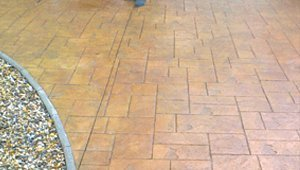 Brown tile flooring
