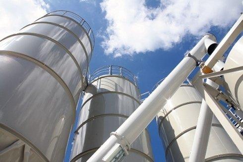 Veduta dello stabilimento di produzione calcestruzzo