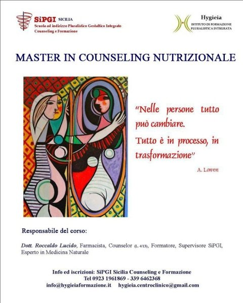 Master in Counseling  nutrizionale