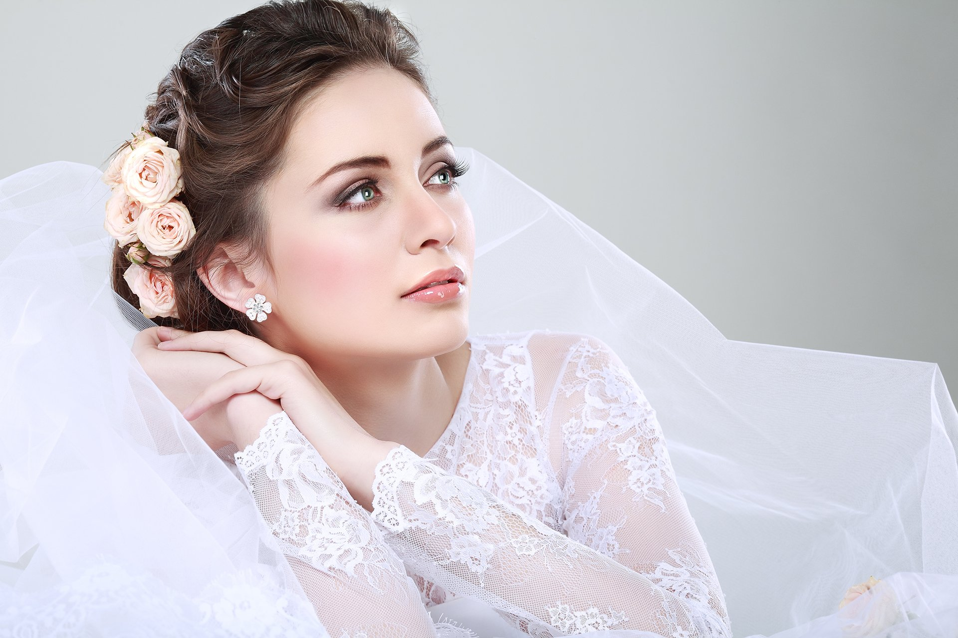 after bridal hairstyle