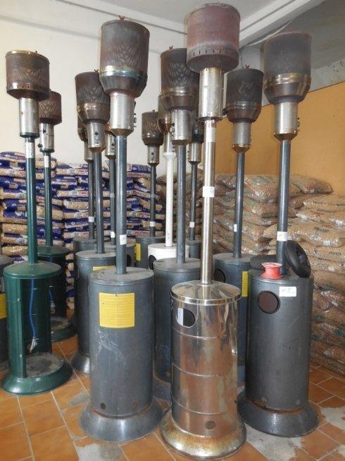 Stufe, biocamini, bombole di gas, bombole per il campeggio