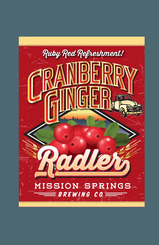 Cranberry Ginger Radler