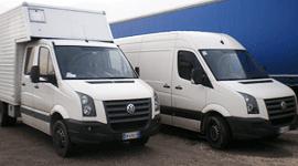 trasporto con furgoni
