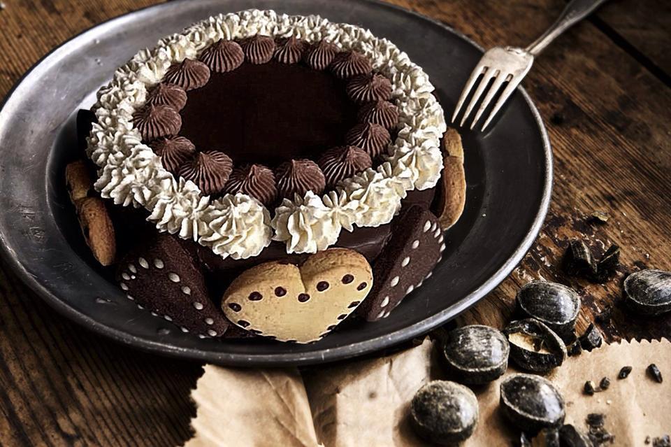 Torta al cioccolato e caffè nella pasticceria e panetteria La Briciola a Trieste