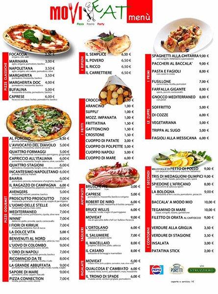 menù Movieat a Mercogliano, Avellino