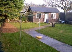 maintained backyard