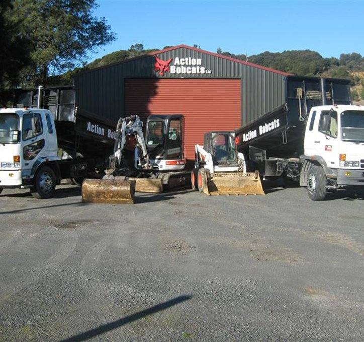 Various bobcat equipment