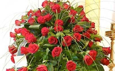 mazzo rose funerale