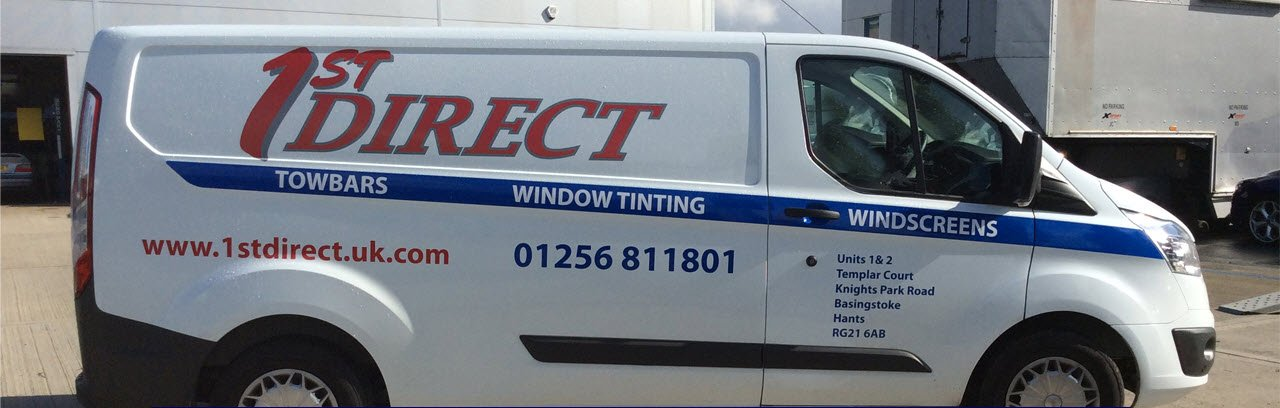 Windscreen replacement & repairs, window tinting and towbars van servicing the Basignstoke Hampshire area.
